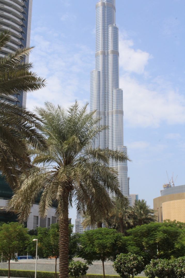 First view of the Burj Khalifa