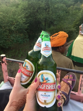 Beer on an elephant